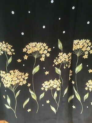Country Casuals 2-piece outfit skirt/blouse black white spots floral size 18