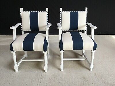 Art Deco Sets or individual occasional Bespoke dining chairs French painted.