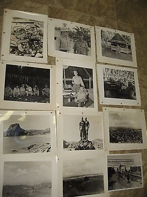 12-Rare US NAVY Naval 33rd Const. Battalion Photos- Philippines/ Solomon Isands
