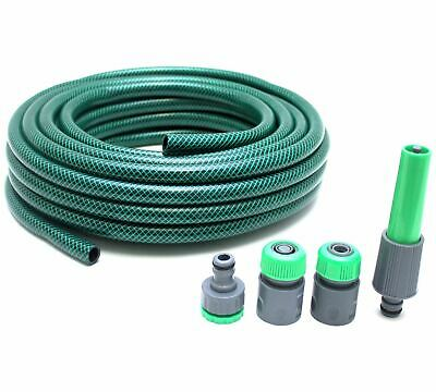 New 15m Hose With Spray Nozzle Set Garden Water All Seasons Heavy Duty Home
