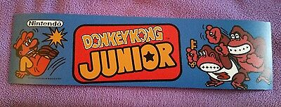 Donkey kong Jr. arcade marquee sticker. 3x10.25 Buy any 3 stickers,GET ONE FREE!