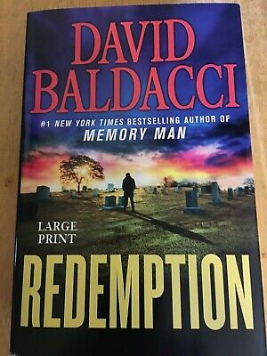 Redemption by David Baldacci (2019, Large Print, Hardcover)