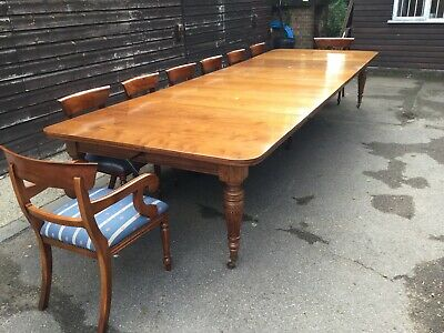 RARE! 14.9ft Antique Grand Victorian Walnut dining table. 1831-1901
