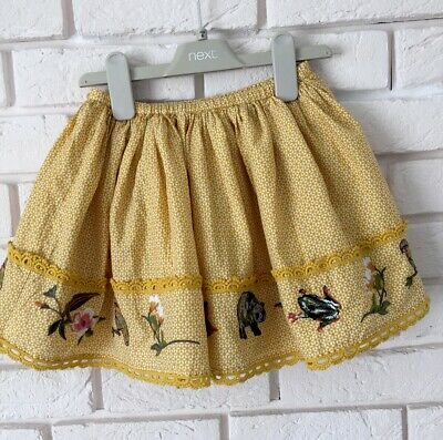 Next Baby Girl Embroidered Details Mustard Party Skirt Summer Holiday Age 18-24m