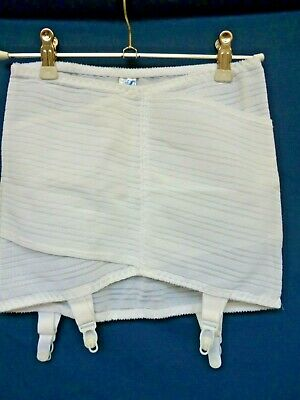 """Vintage White Girdle By Silhouette New With Tags Size 30"""" Waist"""
