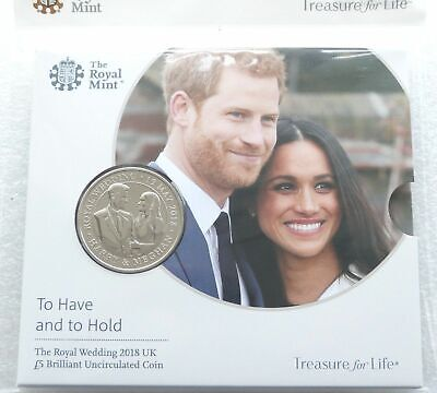2018 Royal Mint Royal Wedding Harry Meghan £5 Five Pound Coin Pack Sealed
