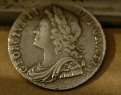 George ii 1732 sixpence Roses & Plumes high grade