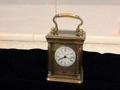 Enamelled Carriage Clock By Elliott And Son