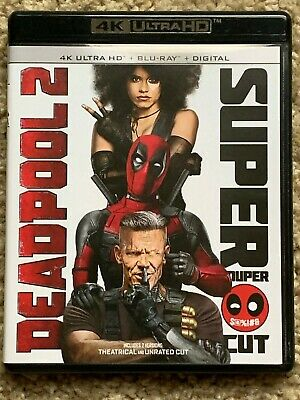 Deadpool 2 Super Duper Cut Blu-Ray/Ultra HD/4K 4 Disc Set Complete w/ Digital