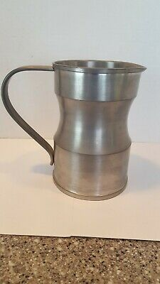 Antique Pewter Quart Measure Tankard Marked... Wonderful Form And Patina