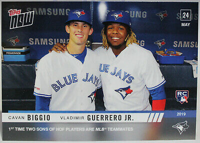 Cavan Biggio & Vladimir Guerrero, Jr. RC 2019 Topps Now #275 Sons of HOF Players