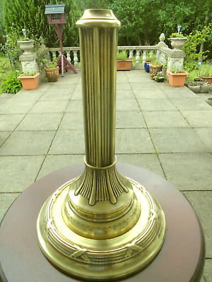 A Very Good Quality Victorian Brass Oil Lamp Base
