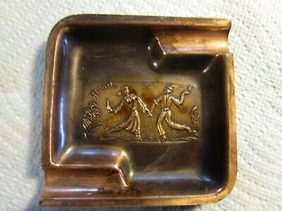 Vintage Israel Engraved Copper Ashtray~VERY NICE!!!!