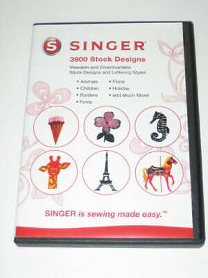 Singer Stock Design CD Software 3900 Stock Embroidery Designs Computer