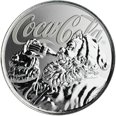 2019 1oz .999 Silver Coke Coca-Cola® Holiday Coin - Limited Mintage Collectible