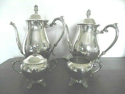Lovely Antique Vintage  F. B. Rogers U.s.a. Silver Plated 4 Piece Teaset