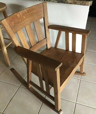 Arts & Crafts Mission Oak Antique Rocking Chair