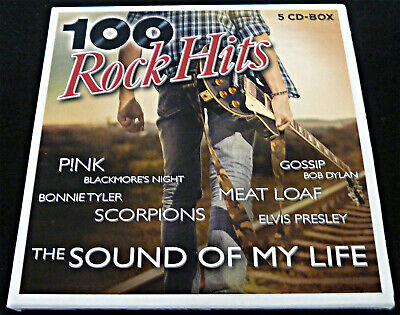 100 Rock Hits - The Sound of my life, 5 CDs, - Classic Rock - Original Songs -