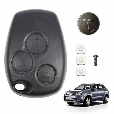 3 Button Uncut Insert Keyfob Case Remote Control Shell Replace For Renault Modus