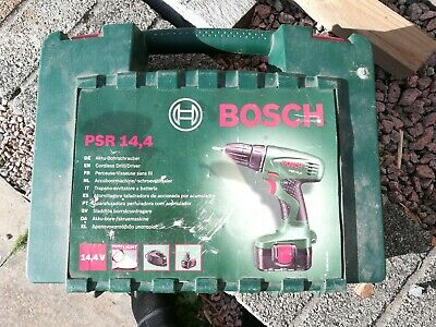 Bosch Psr 14.4 Cordless 14.4V Drill Driver, Battery, Charger & Case Working Con