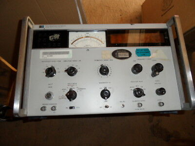 Hewlett Packard HP 312A Selective Voltmeter Powers Up