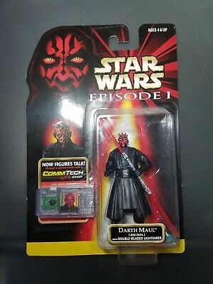 "1999 Hasbro Star Wars Episode 1 TPM Darth Maul Jedi Duel 3.75"" Action Figure MOC"