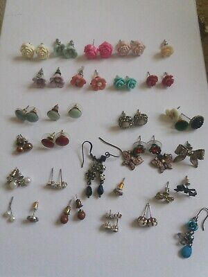 JOB LOT Selection Of Earrings 21x Pairs & 10x Singles