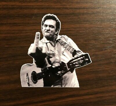 Johnny Cash Sticker - Middle Finger Sticker
