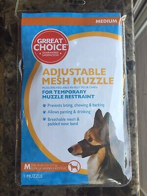 Grreat Choice Breathable Padded Adjustable Nylon Safety Mesh Muzzle for Dogs