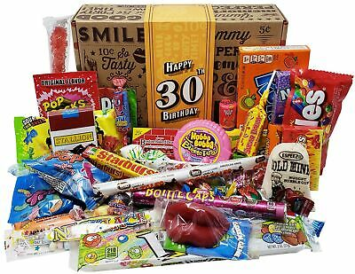 VINTAGE CANDY CO. 30TH BIRTHDAY RETRO CANDY GIFT BOX - 1988 Decade Childhood ...