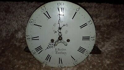 Antique E Butler Grandfather Clock Face And Chiming Mechanism Spares Or Repair