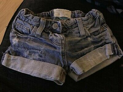 girls Gorgeous river island shorts Blue denim 3 - 4 years