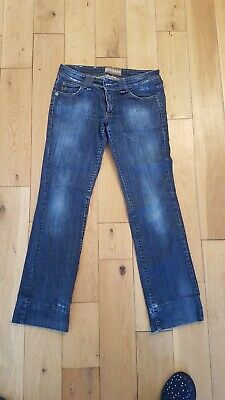 NEW John Galliano Navy Stonewash Jeans with Paint Detail GENUINE RRP £445