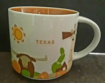 """Starbucks Texas City State Cup Mug """"You Are Here"""" YAH Collection 14 Oz"""