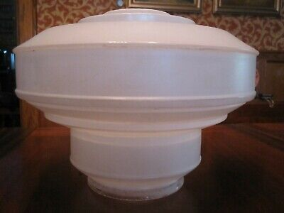 Antique Art Deco Wedding Cake Shade with Clear and Frosted Glass.