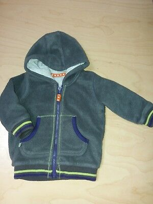 Marks and Spencer baby boy grey fleece hoodie/ zipper 3-6 months