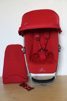 Quinny Buzz 3/4 Xtra Seat Unit Frame with Hood and Insert Red Rumour