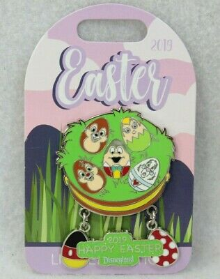 Disney DLR Pin LE 3000 Easter 2019 Tinker Bell White Rabbit Chip Dale Mr. Toad