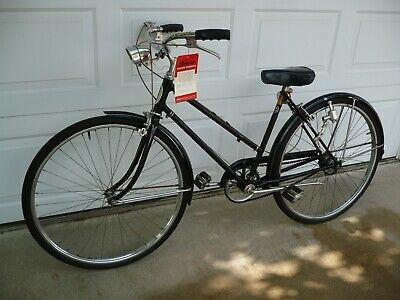 51201d7e6e6 Vintage 1960s Schwinn Breeze 3-Speed Ladies Road Cruiser Black Complete  Bicycle