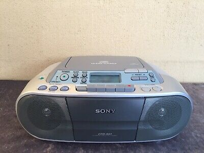 Sony CFD-S01 Boombox Portable Radio CD Cassette Boom Box Works Great Post