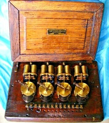 Antique Dominion Messengers & Signal Co Montreal, Brass Timers Working Primitive