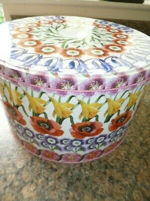 Emma Bridgewater Large Flowers Cake Tin - Used