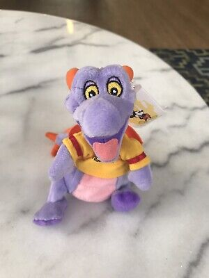 "WDW Disney FIGMENT Plush Bean Bag NWT Purple Epcot Mascot 8"" Walt Disney World"
