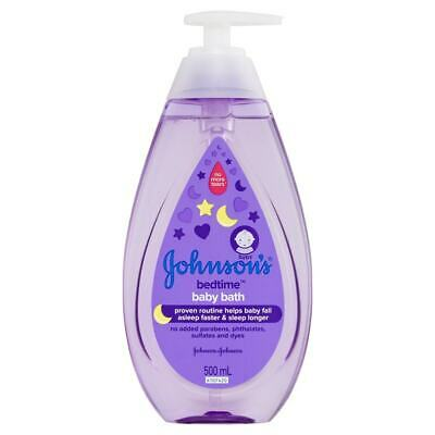 New 500ml Johnsons Baby Bath Bedtime Gentle Babies Soap & Paraben Free Body Wash