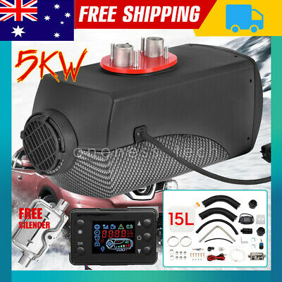 12V 5KW Diesel Air Heater 10L Tank LCD Switch Air Fliter Motorhome Trailer AU