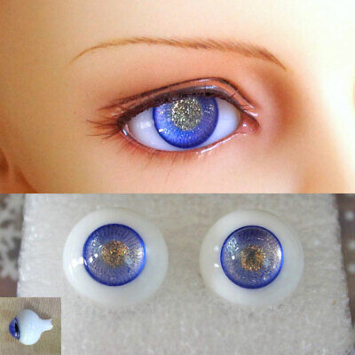 14mm blue & gold color high quality glass bjd doll eyes dollfie minifee ship US