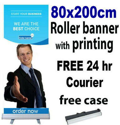 85x200cm Roller Banner Print Pull Up POP Up Exhibition Stand Free 24hr Shipping