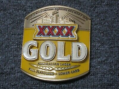 XXXX gold heavy metal beer tap topper/advertising NICE display