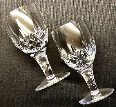"A Pair Of Vintage Stuart Crystal Carlingford Tall Champagne Glasses - 5"" Tall"