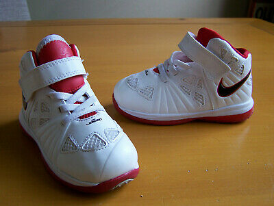 newest ffb7a de025 BABY TODDLER KIDS Nike Lebron James Shoes White Size 8c sneakers